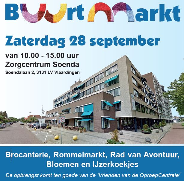 Buurtmarkt in Soenda op 28 september!